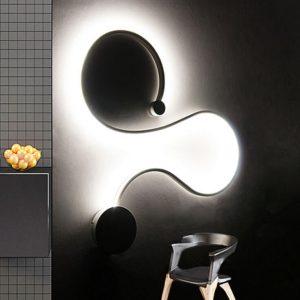 LED sieninis šviestuvas 28W juodas