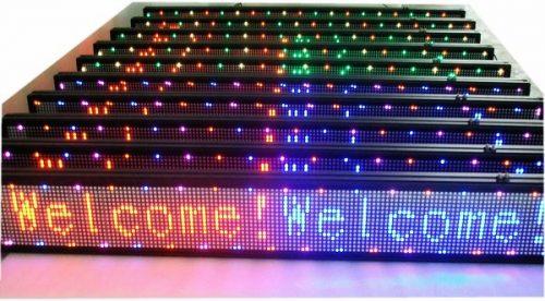 LED svieslentes 100×20 RGB 1