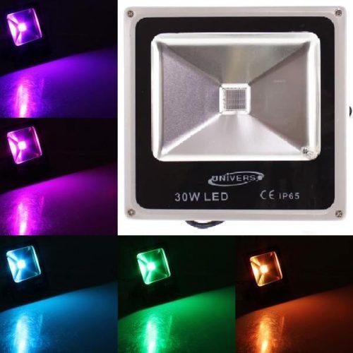 LED RGB lauko prožektorius 30W su distanciniu valdymu 1