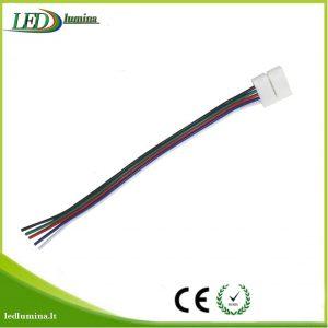 Jungtis RGBW LED juostai 5 kontaktų užspaudžiama 10mm