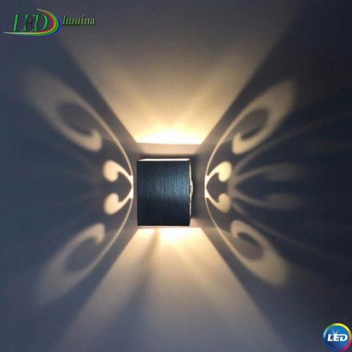 LED sieninis šviestuvas Drugelis 3W 1