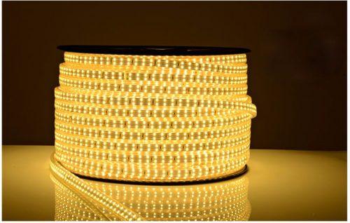 LED lauko juosta dviguba hermetinė šilta balta 220V 1