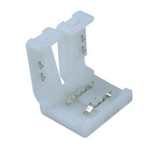 Vienspalvės LED juostos sujungimas 8mm užspaudžiamas