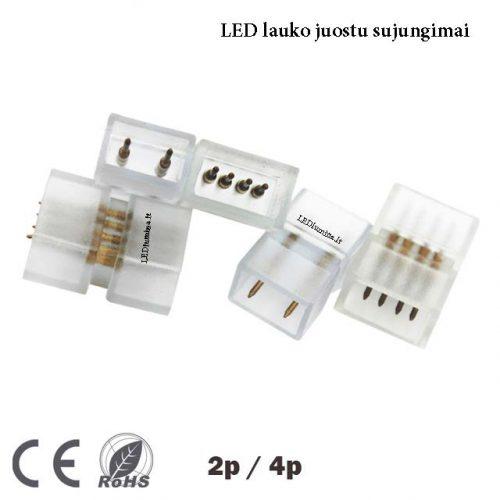 LED lauko juostos sujungimas 1