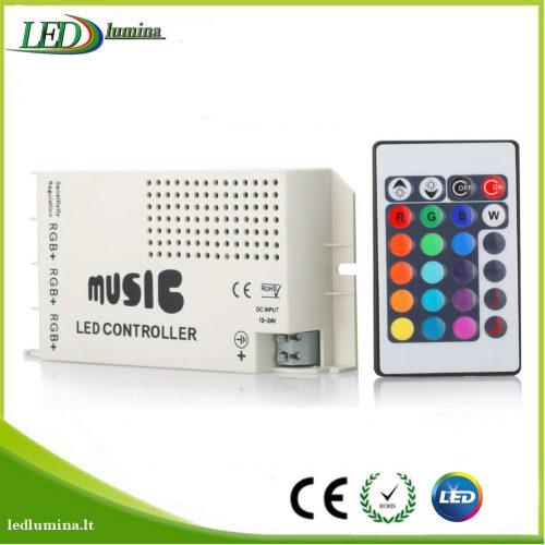 Muzikinis valdiklis RGB LED juostai su pulteliu baltas 1