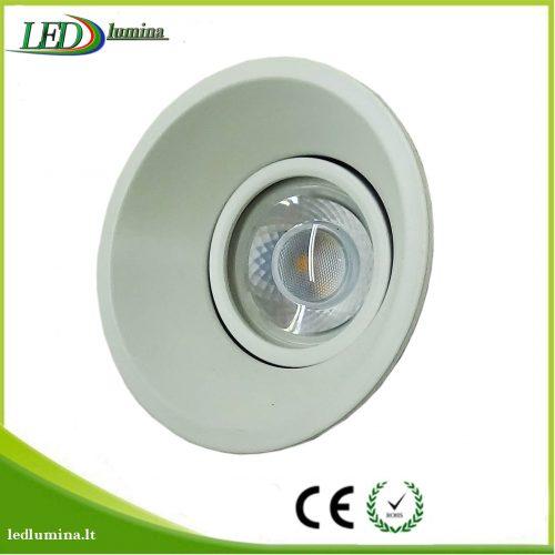 Akcentinis LED šviestuvas baltas reguliuojama šviesos kriptis 1
