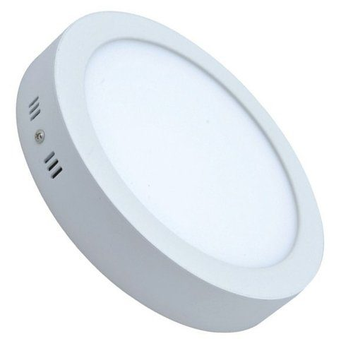 6W virštinkinė LED panelė apvali šilta balta šviesa 1