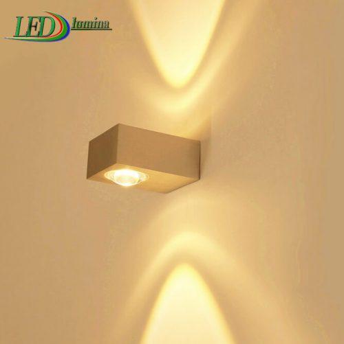 LED sieninis šviestuvas kryptinis 2W šilta balta šviesa 1