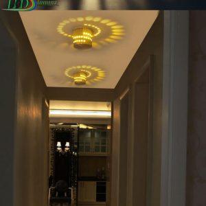 LED sieninis-lubinis šviestuvas 3D 3W šilta balta šviesa