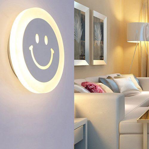"""LED sieninis šviestuvas 15W """"Šypsenėlė"""" Dienos šviesa 1"""