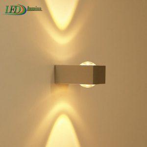 LED sieninis šviestuvas kryptinis 2W šilta balta šviesa