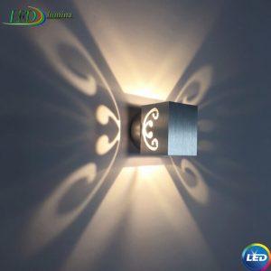 LED sieninis šviestuvas Drugelis 3W