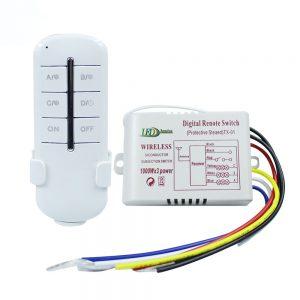 Nuotolinis valdiklis su pulteliu šviestuvams trijų zonoų 3x1000W
