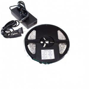 LED juostos komplektas 12V 7W/m Balta šviesa IP65