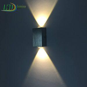 LED sieninis šviestuvas 2W šilta balta šviesa