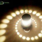 LED sieninis-lubinis šviestuvas 3D 3W šilta balta šviesa 3