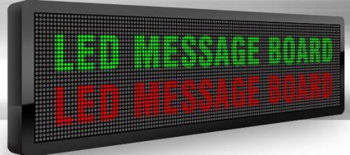 LED reklaminės švieslentė raudona vidaus 100×20 cm 1