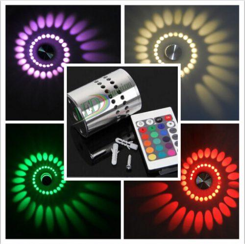 LED sieninis-lubinis šviestuvas 3D 3W spalvota šviesa 1