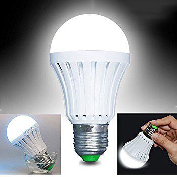 Avarinė LED lemputė su baterija E27 1