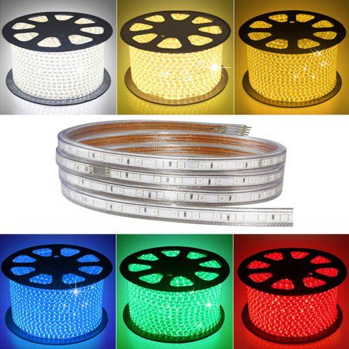 LED lauko juosta 8W/m 220V hermetinė spalvota (Bėgančios spalvos) 1