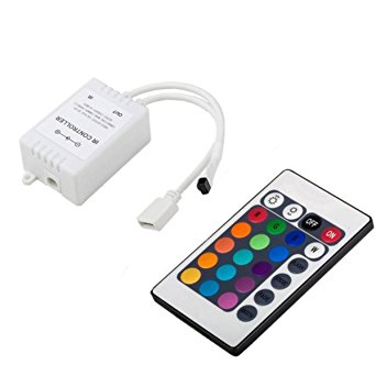 RGB juostos valdiklis 6A, 72W, IR, (16 mygtukai) 1
