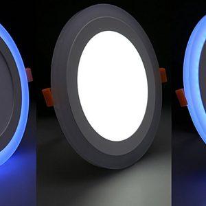9W LED panelė balta su mėlynu keičianti spalvas