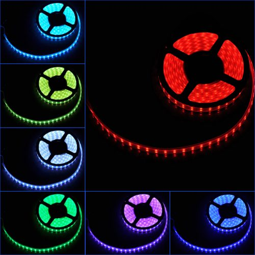 RGB LED juosta 12V 12W/m hermetiška IP65 1