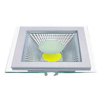 6W LED panelė su stikliniu rėmeliu šalta balta šviesa 1