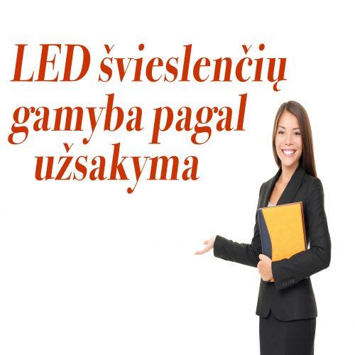 LED reklaminių švieslenčių gamyba pagal užsakymą 1
