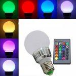 RGB LED lemputė keičianti spalvas su pulteliu