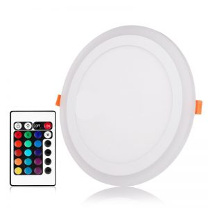 9w LED panelė keičianti spalvas su pulteliu (RGB) apvali