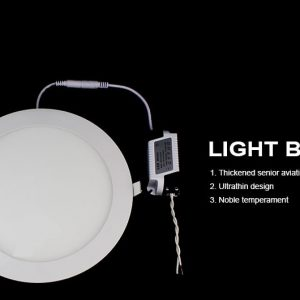 12W LED panelė apvali šilta balta šviesa