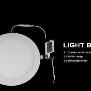 24W LED panelė apvali šilta balta šviesa