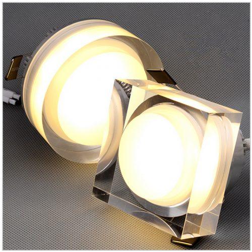 Akcentinis LED šviestuvas montuojamas į lubas arba siena kvadratinis 1w 1