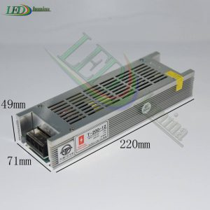 LED juostos Maitinimo šaltinis 200W 16.5A 12V