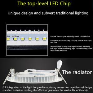 6W LED panelė apvali naturali balta šviesa