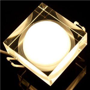 Akcentinis LED šviestuvas montuojamas į lubas arba siena kvadratinis 1w