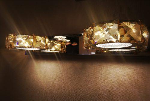 LED sieninis šviestuvas krištolinis 8w 1