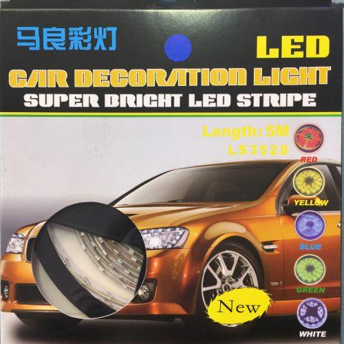 Automobiliui LED juosta 12V hermetiška mėlyna 1