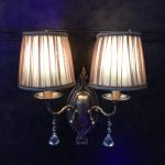 Klasikinis sieninis šviestuvas rusvas 4
