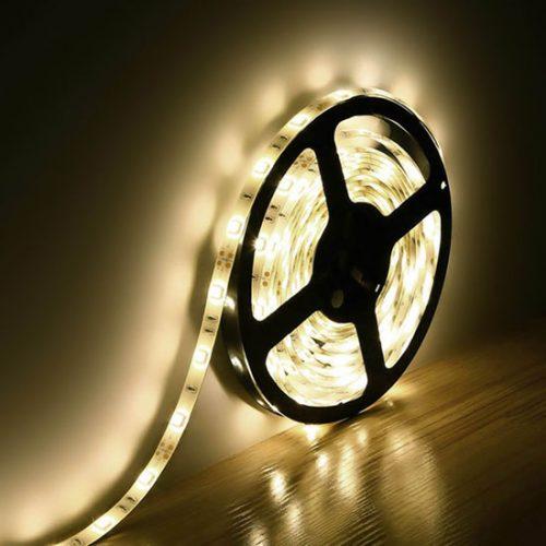 LED juosta 12v nehermetiška 5W/m šilta balta 5m 1