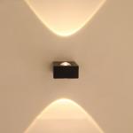LED sieninis šviestuvas 6W juoda spalva
