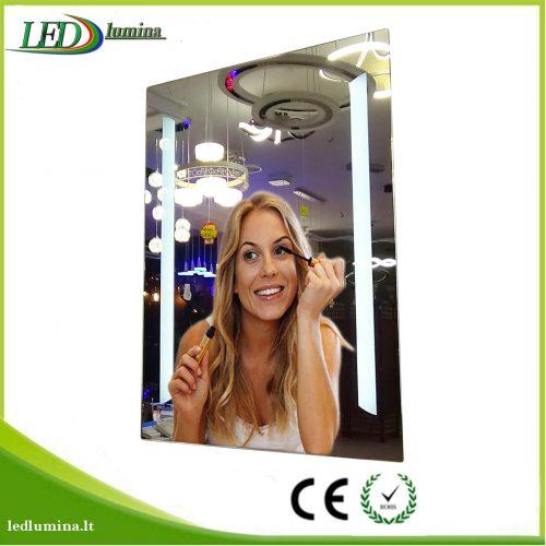 Veidrodis su LED apšvietimu 60×80 1