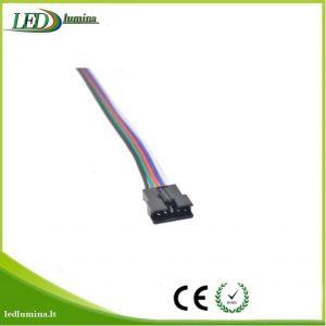 Jungtis RGBW LED juostai 5 kontaktu female