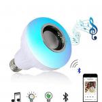 Išmanioji Bluetooth LED lemputė su garsiakalbiu