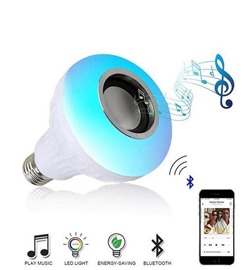 Išmanioji Bluetooth LED lemputė su garsiakalbiu 1