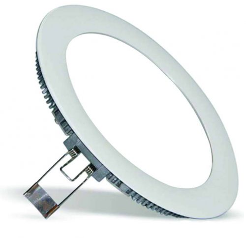 9W LED panelė apvali šilta balta šviesa 1