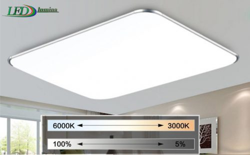 LED lubinis šviestuvas plafonas su pulteliu dimeriuojamas 48W 1