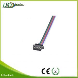 Jungtis RGBW LED juostai 5 kontaktu male