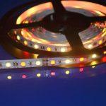 RGBWW + šiltai balta LED juosta 12V 14.4W/m nehermetiška